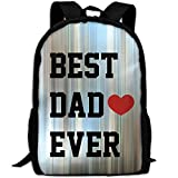 CY-STORE Funny Best Dad Ever Print Custom Casual School Bag Backpack Travel Daypack Gifts