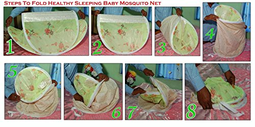 Healthy Sleeping Foldable Polyester Baby Portable Mosquito Net (Pink)