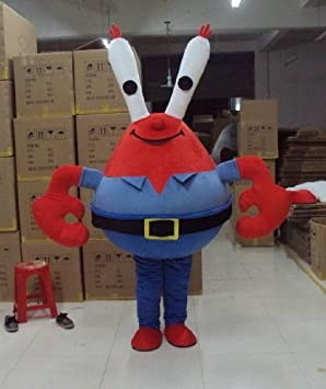 cartoon character costume mr krabs costume male female amazon