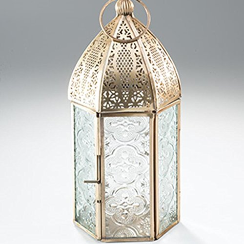 Antique brass moroccan style medium lantern by Namaste