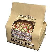 Moda Scrap Bag, 1/2-Pound Assortment of Color-Coordinated Cotton Fabric Strips