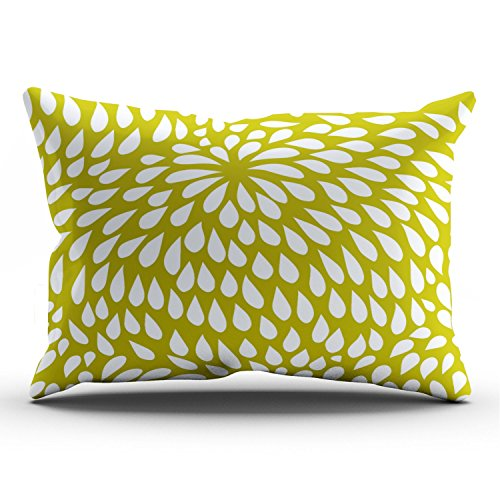 Boitty Pillow Case Paisley Flower in Chartreuse Green and White Pillowcases Personalized Decorative Designer Throw Pillow Covers Cases King 20x36 Inches One Side