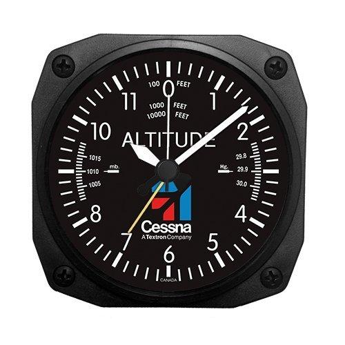 Trintec Aviation Classic Altimeter CESSNA Desk Top Travel Alarm Clock Aircraft Trintec Industrial Inc dm60ces