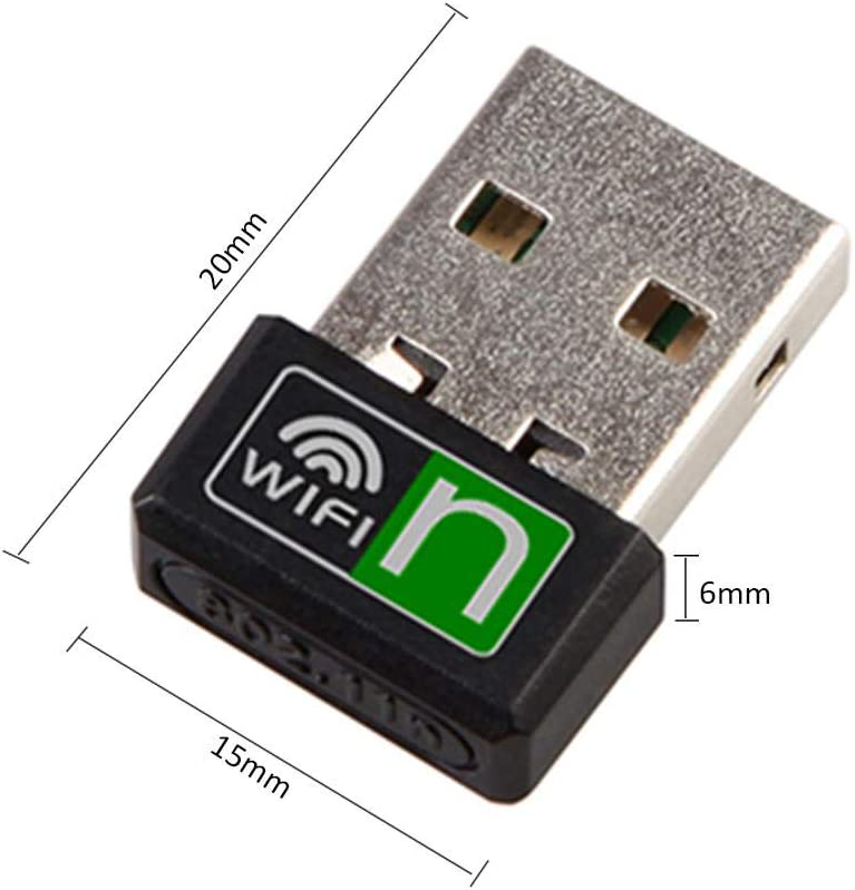 WiFi Adapter Angelhood Wireless Network Card Online Gaming and Internet Calls USB High Speed Connector for Video Streaming
