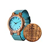 Personalized Wooden Watch for Daughter, Engraved ''to My Daughter' Wood Watch, Anniversary Christmas Gifts for Daughter, Valentine's Gifts for Wife (Girl to Mom)