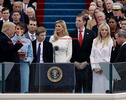President Donald Trump Inauguration Photo 8x10 Melania Republican 2017