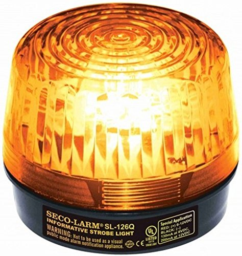 (Seco-Larm SL-126Q/A Xenon Tube Strobe Light, Amber, Easy 2-wire Installation, Low Current Consumption, 300 Continuous Hours Lifespan, High-impact Resistant Acrylic, For 6 to 12V Use)