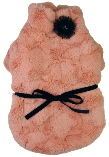PET LIFE 'Pink-Mink' Luxury Designer Winter Pet Dog Coat Jacket Sweater, Small, Pink by Pet Life