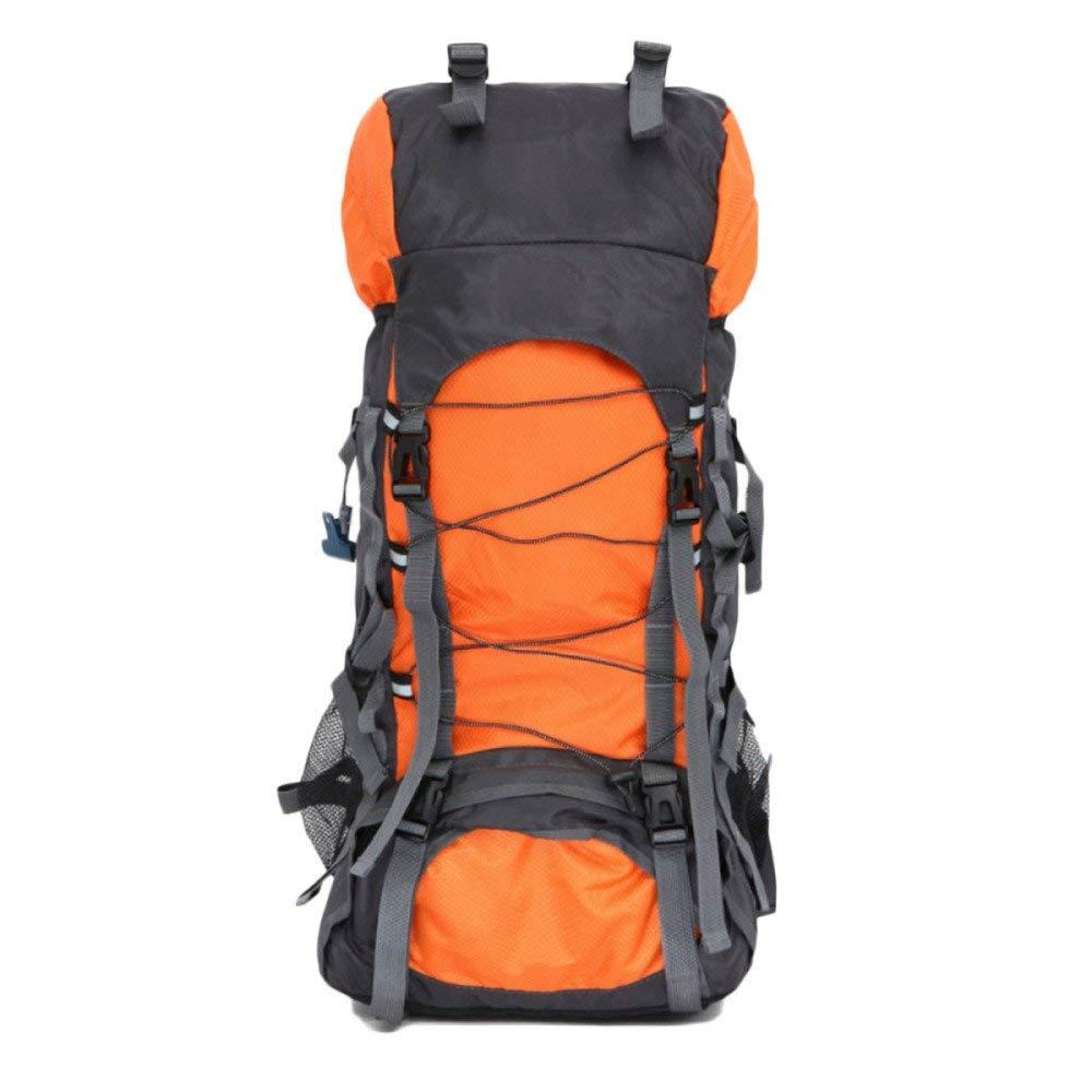 Lounayy 60L Rucksack Outdoor Stylisch Mode Wandern Klettern Klettern Klettern Reisen Leichte Bergsteigen Tasche Freizeit (Farbe   Orange, Größe   60L) B07PSGCYLD Wanderruckscke Modebewegung 809823