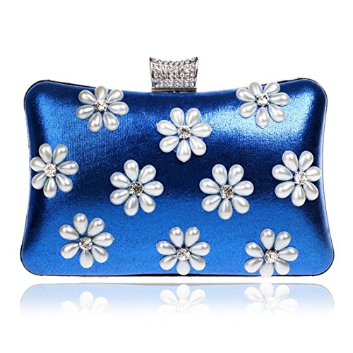 Ladies Silver Luxury Crossbody Bag Shoulder Blue Color Women's Clutch KERVINFENDRIYUN Snowflake Handbags Evening Purse Banquet gBBq08Z