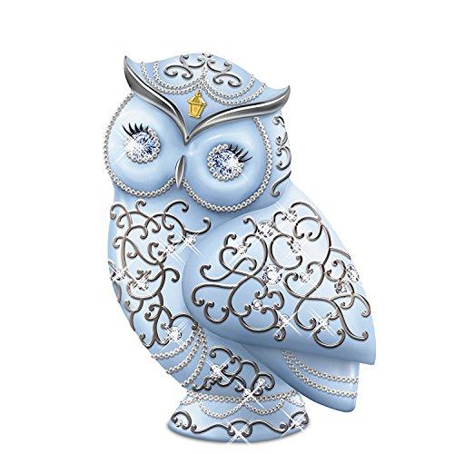 The Hamilton Collection Thomas Kinkade Collectible Owl Figurine with Swarovski Crystals: Dazzling Wisdom