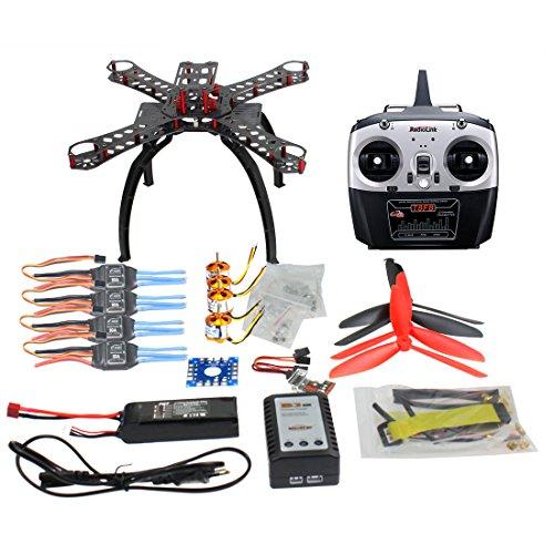 QWinOut QQ Super Multi-rotor Flight Control DIY 310mm Fiberglass RC Racing Drone Unassembly ARF Combo Set with Radiolink 8CH TX&RX 1400KV Motor 30A ESC