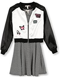 Speechless Girls' Skater Dress with Jacket
