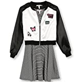 Speechless Girls Plus Size' Skater Dress with Jacket, Black/White Patch, 14.5