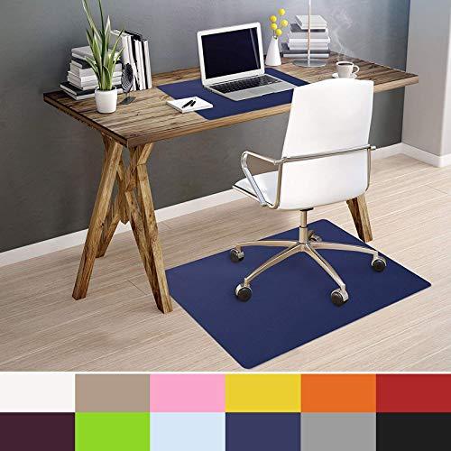 OfficeMarshal Alfombra de Color para Silla - Alfombrilla Protectora Suelo | Alfombra oficinas PP | Multiuso | Muchos Colores y tamanos (Azul Oscuro, 75x120 cm)