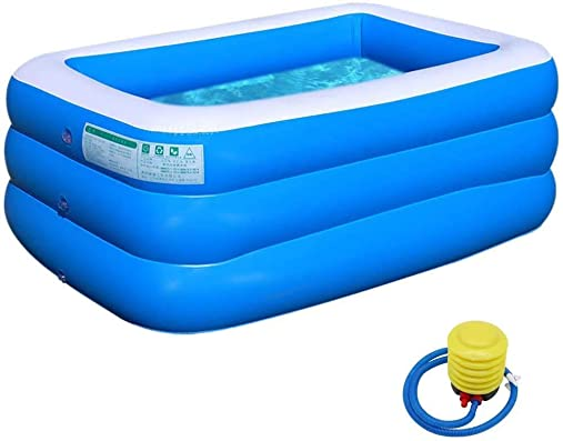 HXXF Swimming Pool PVC Thickened Abrasion Resistant Inflatable Pool