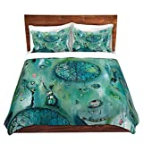 DiaNoche Designs Artist Denise Daffara-Windows to Another World Brushed Twill Home Decor Bedding Cover, 2 Twin Duvet Only 68'' x 90''