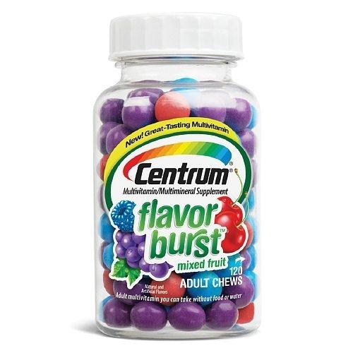 - Centrum Flavor Burst Chews Adult Multivitamins, Mixed Fruit 120 ea by Centrum