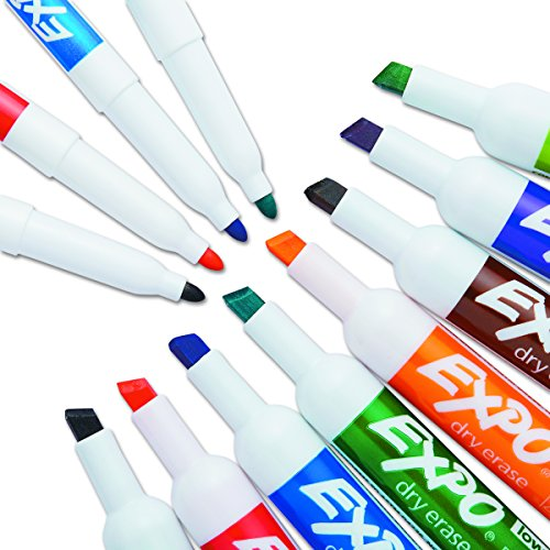 Expo 80054 low odor dry erase markers chisel tip for Kitchen set expo