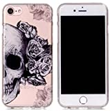 Best Flower Skulls For IPhones - Iphone 7 Clear Case,Fusicase Beautiful Flower Pattern Cartoon Review