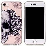 Iphone 7 Clear Case,Fusicase Beautiful Flower Pattern Cartoon Bear Owl Skull ...