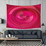 smallbeefly Hot Pink Wall Tapestry Abstract Vortex with Swirls and Shapes Pattern with Vibrant Pink Colors Home Decorations for Living Room Bedroom 80''x60'' Hot Pink Magenta Pink