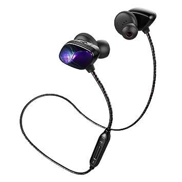 Auriculares Bluetooth, hizek auriculares inalámbricos Bluetooth 4.1 en la oreja Auriculares Impermeable con Control de