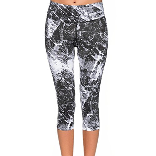 Nike Womens Dri-Fit Legendary Engineered Training Tight Capris-Black Marble-XS