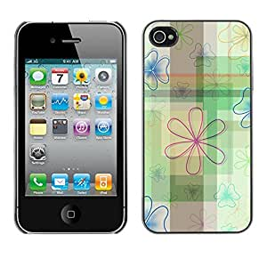 Planetar® ( Indestructible Lotus Pattern ) iPhone 4 / 4S Fundas Cover Cubre Hard Case Cover