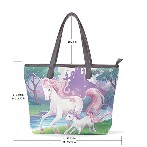 Bags Bennigiry Women Shoulder Tote Unicorn Handbag Patern Handle Large Ladies Top YTwZqp1