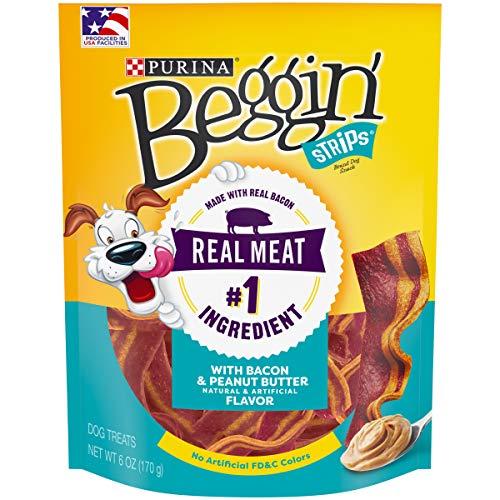 (Purina Beggin' Bacon & Peanut Butter Flavors Dog Snacks - (1) 6 oz. Pouch)