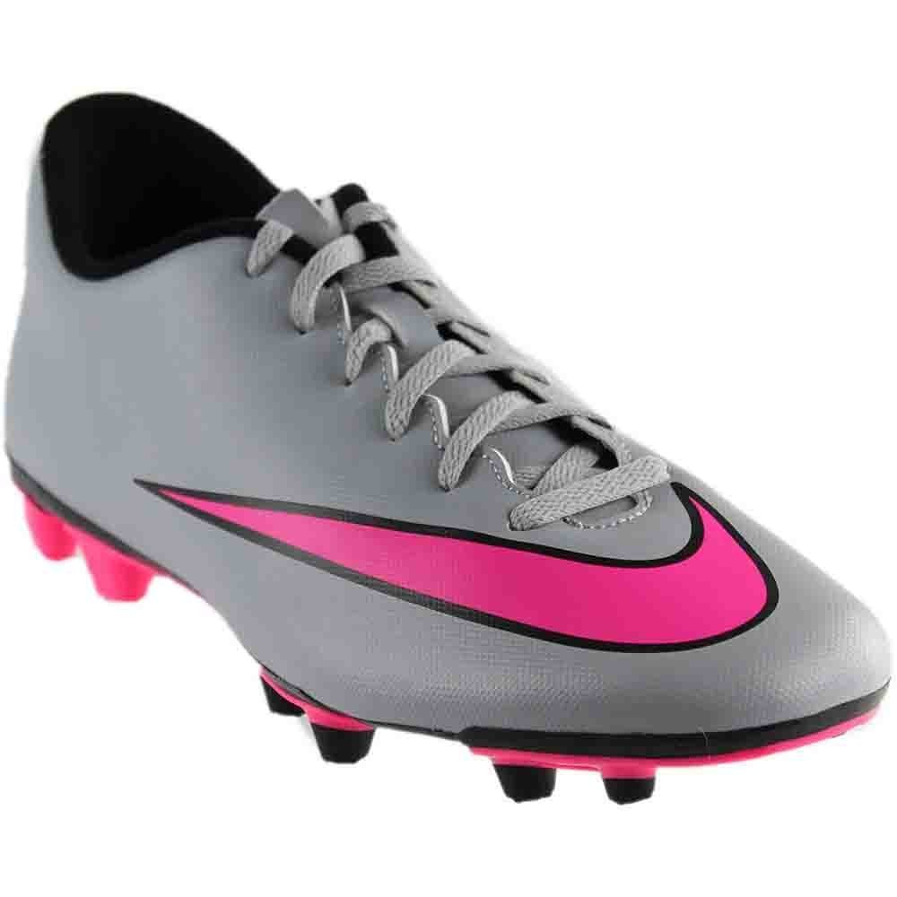 edfccfd3a Galleon - Nike Mens Mercurial Vortex II FG Firm Ground Soccer Cleats (6.5  D(M) US, Wolf Grey Hyper Pin-Black)
