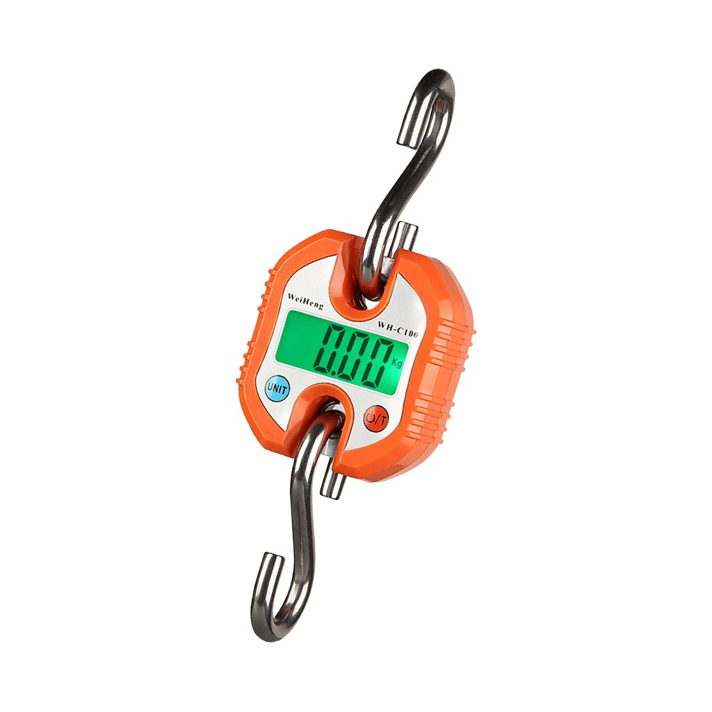 Baoblaze Portable 150kg/330lb LCD Poultry Hanging Luggage Weight Electronic Hook Scale