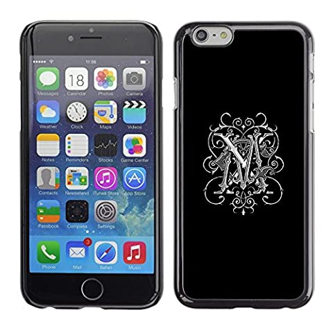 All Phone Most Case / Hard PC Metal piece Shell Slim Cover Protective Case for Apple Iphone 6 Plus 5.5 M initials love black Maggie Marie (Pinky Marie)