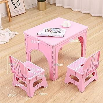 CTC Juego de mesa y silla, mesa plegable, silla, escritorio de ...