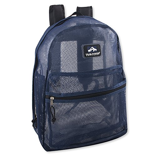 Trailmaker Classic 17 Inch Mesh Backpack with Reinforced Straps (Blue)