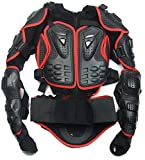 Size L red Motorcycle Parts Full Body Protective Jacket Spine Chest Gear Armor Off Road Protector Motorcross Racing Clothing Fit For Kawasaki All Model Year