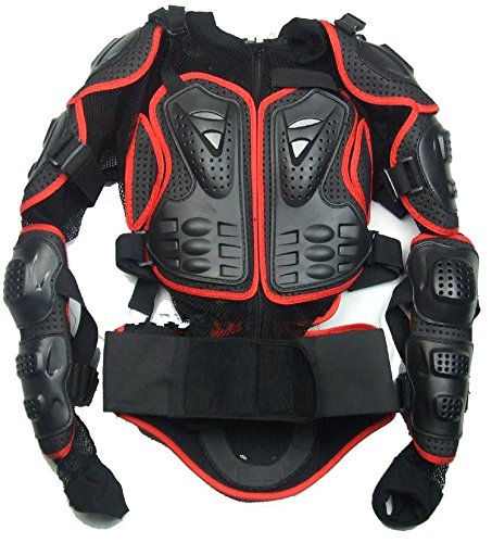 Size XL red Motorcycle Parts Full Body Protective Jacket Spine Chest Gear Armor Off Road Protector Motorcross Racing Clothing Fit For 1999 2000 2001 2002 2003 2004 2005 2006 Suzuki HAYABUSA/GSXR1300 2007 by YI