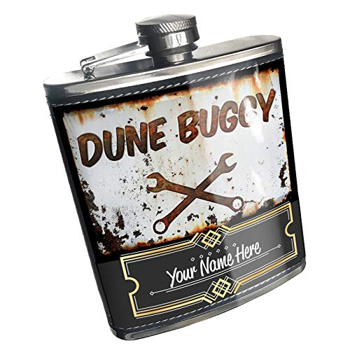 Neonblond Flask Rusty old look car Dune buggy Custom Name Stainless Steel