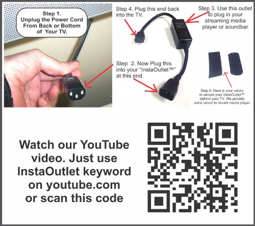 The InstaOutlet® for Media Players Chromecast, Roku, Apple TV by Where's The Wires (Image #3)