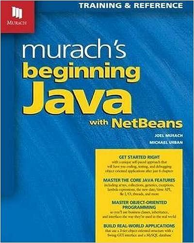 Murach's Beginning Java With NetBeans Download
