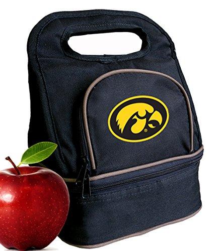 Broad Bay University of Iowa Lunch Bag Iowa Hawkeyes Lunch Box - 2 Sections!