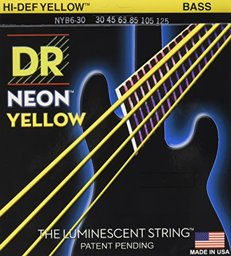 DR Strings NYB6-30 Nickel Coated Bass Guitar Strings, Medium