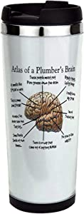 Atlas of a Plumbers Brain.PNG Stainless Steel Trav Stainless Steel Travel Mug, Insulated 14 oz. Coffee Tumbler.
