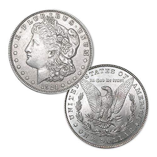 (1921 P Morgan Silver Dollar $1 About Uncirculated (AU))