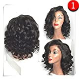 Best African American Wigs - COLODO Synthetic Wigs Short Bob Wet And Wavy Review