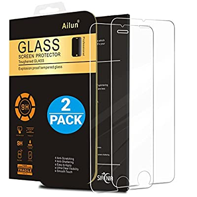 iPhone 6 plus Screen Protector,iPhone 6s plus Screen Protector,[2 Packs]by Ailun,2.5D Edge Tempered Glass,Bubble Free,Anti-Fingerprint,Oil Stain&Scratch Coating,Case Friendly,Siania Retail Package from Siania