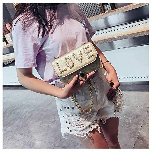 trasversale Trendy moda berretti piccola borse a per Partito a donne Borse argento tracolla sezione ragazze quadrati le selvatici tracolla perla qaZXx0xSw
