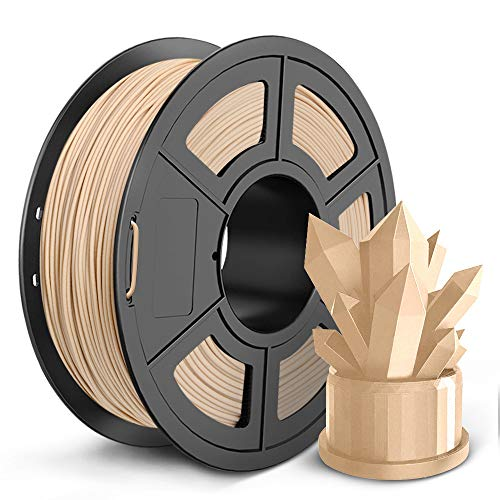 SUNLU Wood 3D Printer Filament 1.75mm PLA Filament 1kg/Spool for 3D Printing Dimensional Accuracy +/- 0.02 mm Real Wood Filament