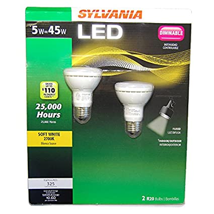 LED 5W R20 45W Equal 325 Lm. 2700K Warm White Sylvania 78696 - - Amazon.com